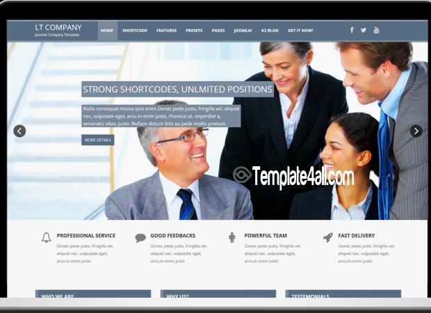 One Page Company Joomla Template