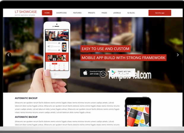 one page responsive law joomla template download