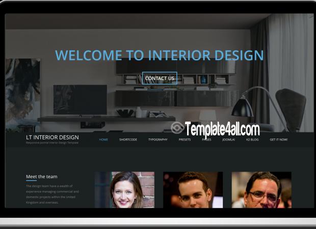 Responsive Interior Design Joomla Template