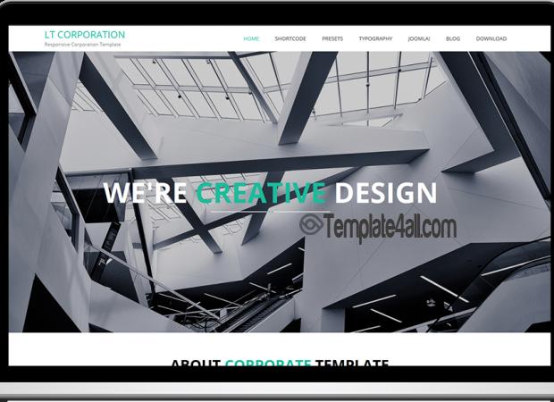 Responsive Business Corporation Joomla Template