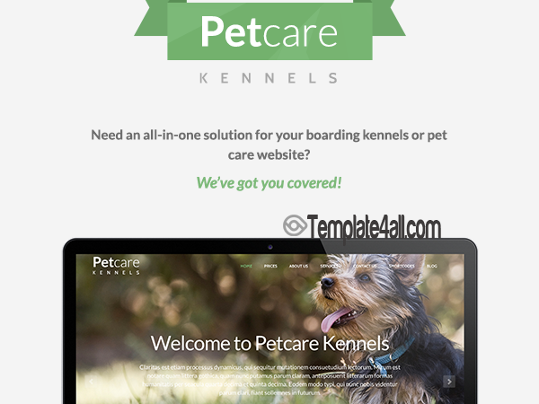 Premium Pets Dogs Care Wordpress Theme