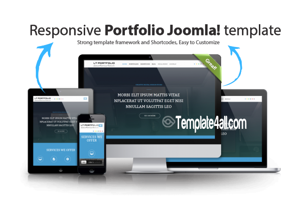 Responsive Creative Portfolio Joomla Template