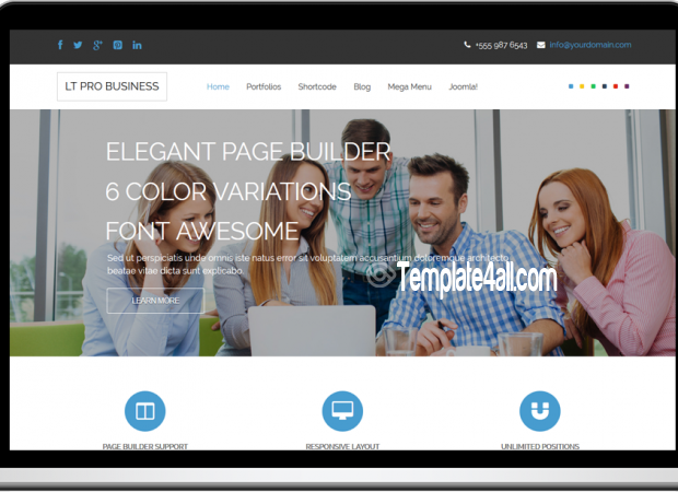 LT Responsive Corporation Business Joomla Template