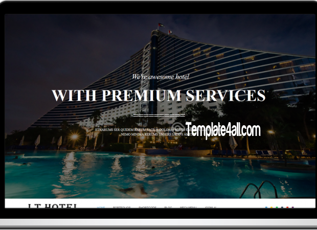 One Page Responsive Resort Hotel Joomla Template