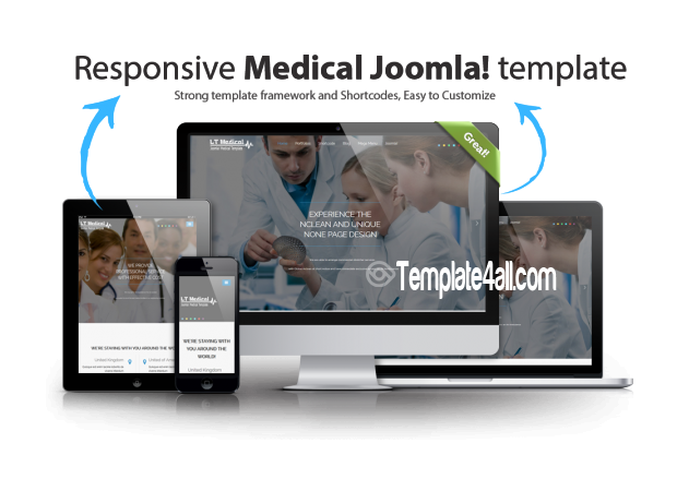 Responsive Hospital Medical Joomla Template