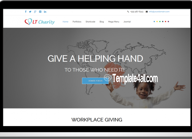 Responsive Non-Profit Charity Joomla Template