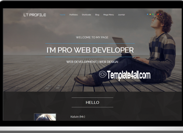 One Page Responsive CV Profile Joomla Template