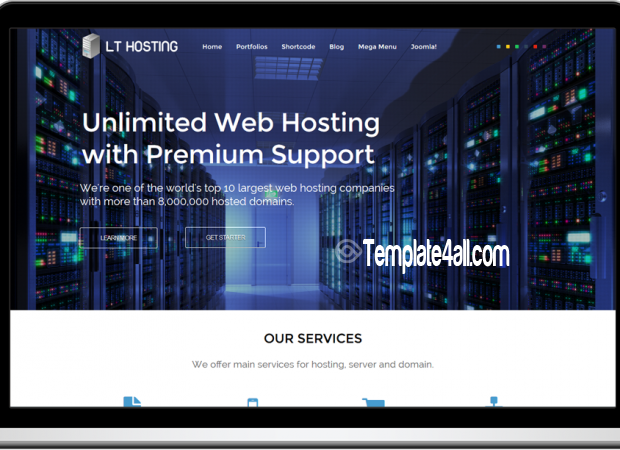 Responsive Web Hosting Joomla Template