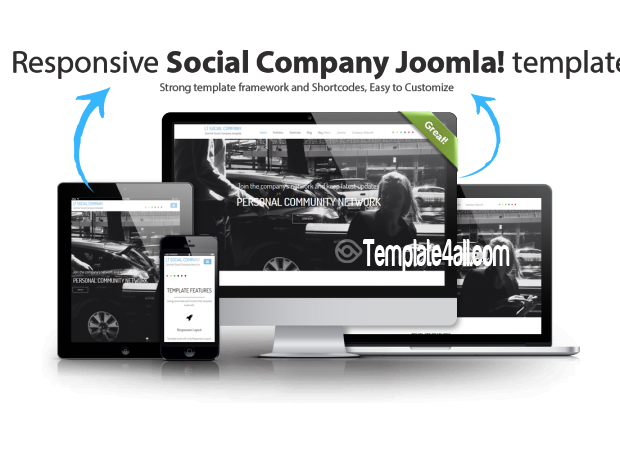 LT Social Company Onepage Joomla Template