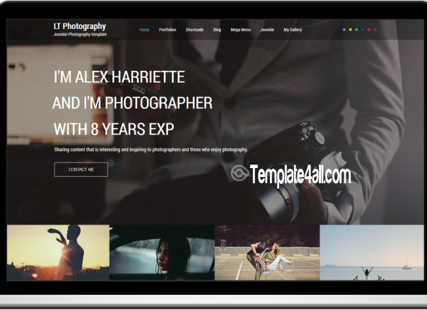 One Page Responsive Photography Joomla Template