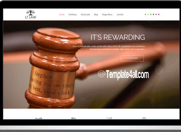 One Page Responsive Law Joomla Template