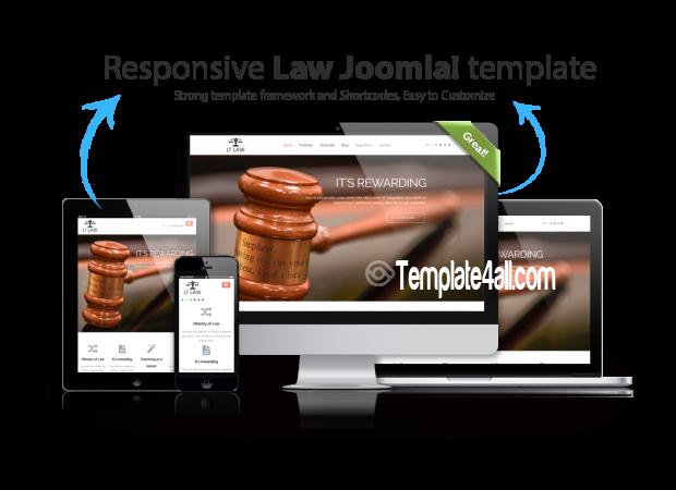 Responsive Law Joomla Template