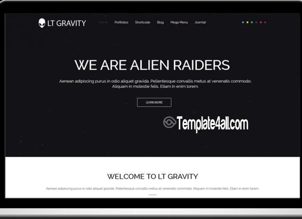 Black Responsive Corporation Joomla Template