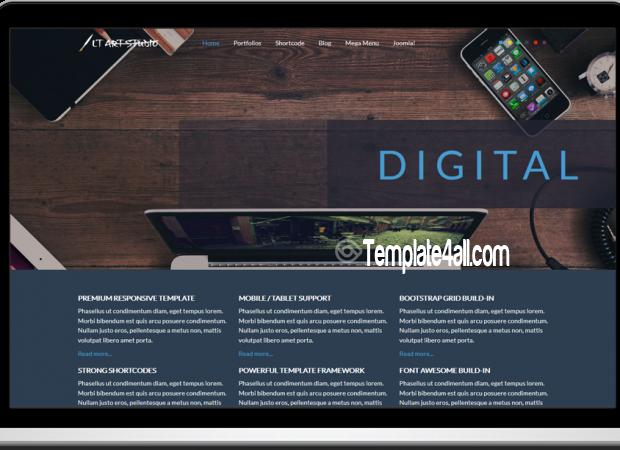 LT Onepage Free Art Studio Joomla Template
