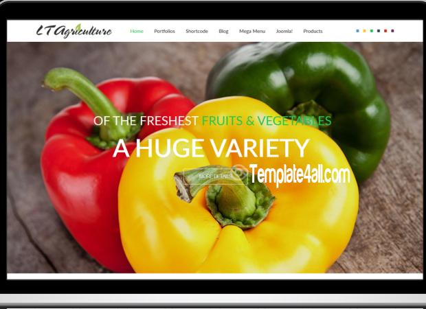 LT Fruits Vegetables Agriculture Joomla Template