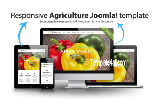 Fruits Vegetables Agriculture Joomla Template