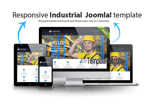 Onepage Corporation Industrial Joomla Template