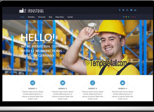 LT Onepage Corporation Industrial Joomla Template