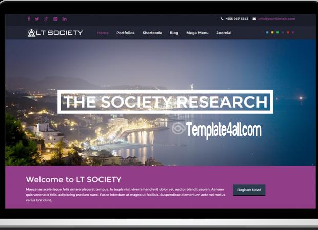Responsive Corporation Society Joomla Template
