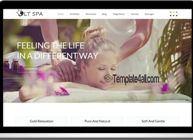 Responsive Spa Massage Joomla Template