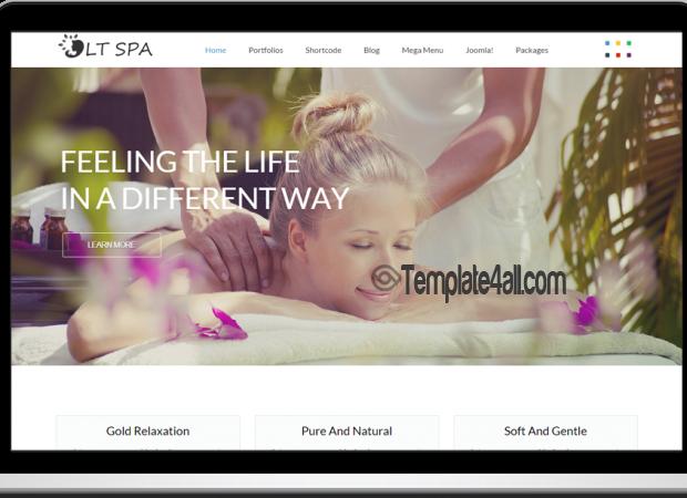LT Responsive Spa Massage Joomla Template