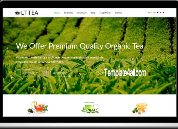 LT Tea Responsive Tea Store Joomla Template
