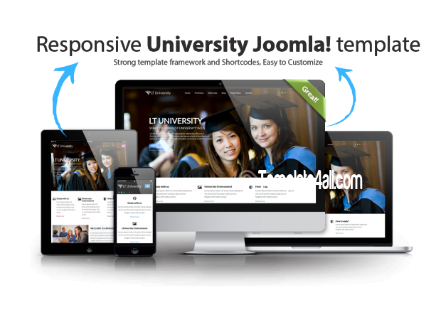 Responsive University School College Joomla Template