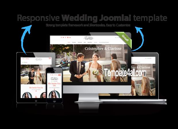 Onepage Responsive Wedding Joomla Template