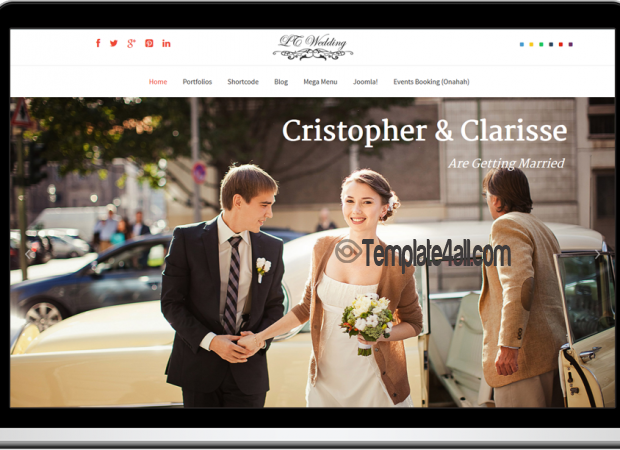 Html template for wedding