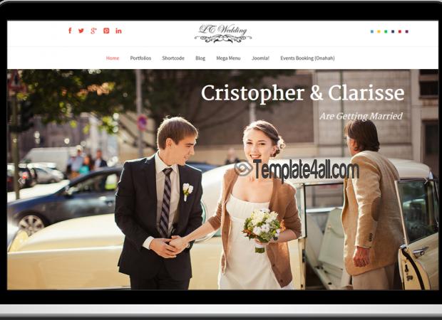 LT Free Responsive Wedding Joomla Template