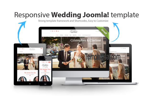 Responsive Wedding Joomla Template