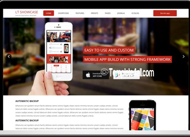 LT Free App Showcase WordPress Theme