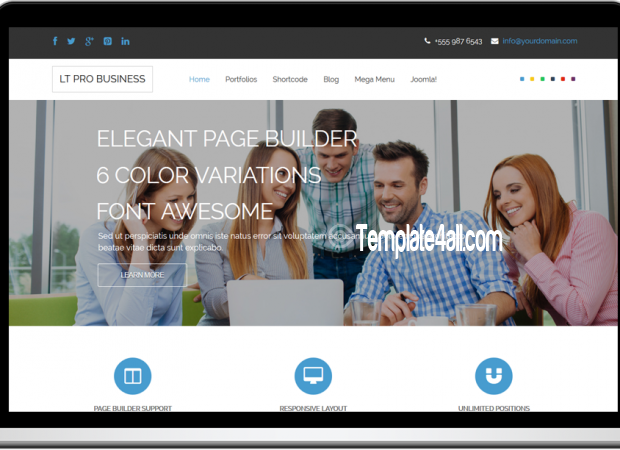 Responsive Corporation Pro Business WordPress Theme