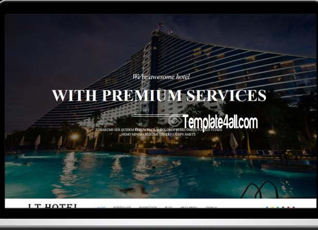 LT Responsive Hotel Resort WordPress Theme