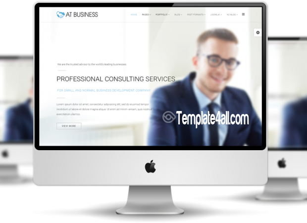 AT Corporation Business Onepage Joomla Template