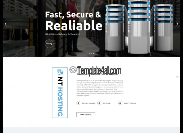 NT Free Servicer Hosting Wordpress Theme