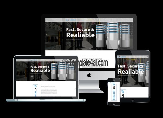 Responsive NT Free Servicer Hosting Wordpress Theme
