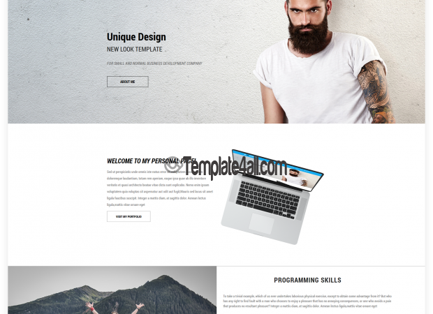 NT Profile Free CV Resume Wordpress Theme