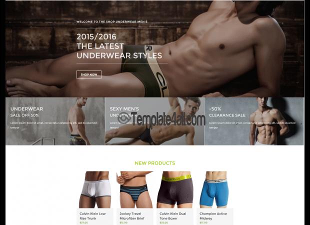NT Free Underwear Shop Wordpress Theme