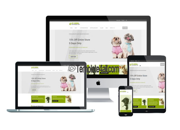 Pet Animal Woocommerce Wordpress Theme Responsive
