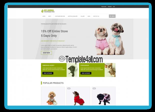 WS Free Pet Animal Woocommerce Wordpress Theme