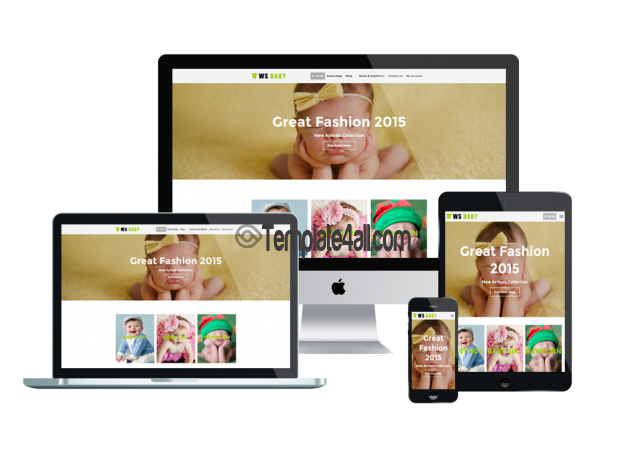 Responsive WS Kids Baby Store Woocommerce Wordpress Theme