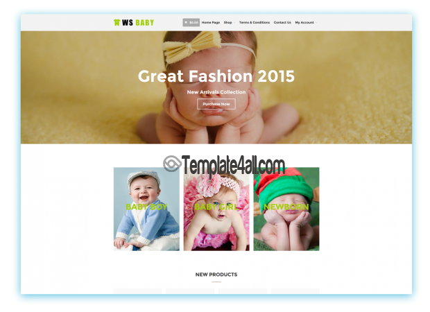 WS Kids Baby Store Woocommerce Wordpress Theme