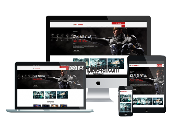 Responsive Woocommerce Free Games Wordpress Theme
