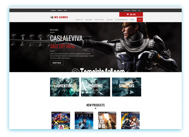 Woocommerce Free Games Wordpress Theme