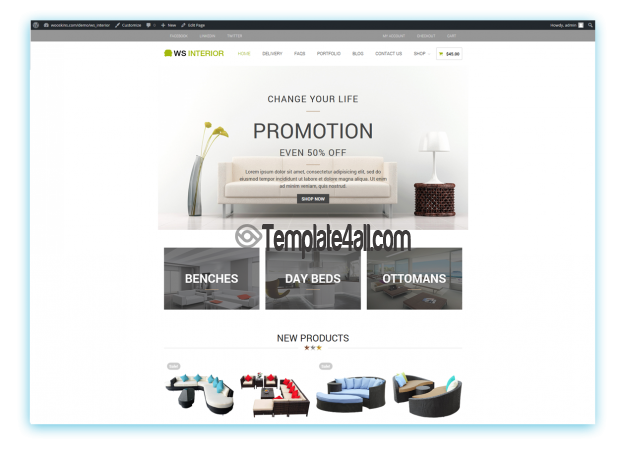 WooCommerce Interior Furniture Wordpress Theme