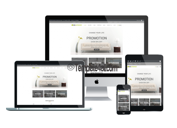 Responsive WooCommerce Interior Furniture Wordpress Theme