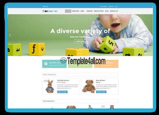 WS Toy Free WordPress WooCommerce Kids Theme