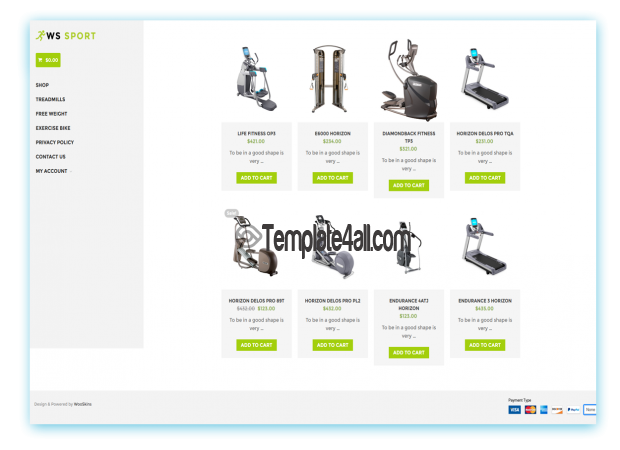 WS Sport WordPress Free Fitness Woocommerce Theme