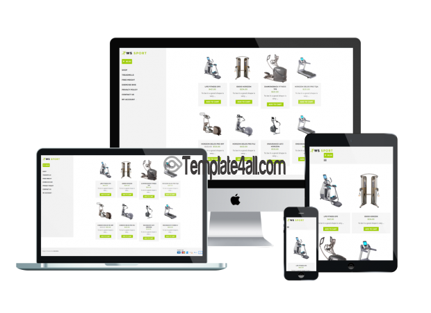 Responsive WS Sport WordPress Free Fitness Woocommerce Theme